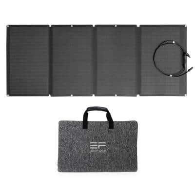 160W Portable Solar Panel , Foldable Solar Charger Chainable for Power Station Waterproof IP67 for Outdoor Camping RV