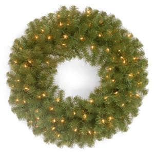 24in. North Valley(R) Spruce Wreath with Battery Operated Dual Color LED Lights
