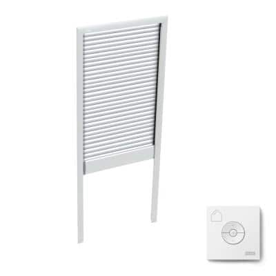 White Solar Powered Room Darkening Skylight Blind for FS M08 Models