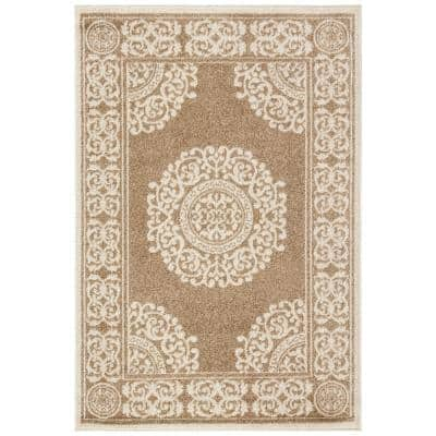 Amherst Wheat 4 ft. x 6 ft. Oriental Area Rug