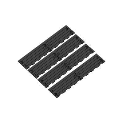 Invisible Edge Heel Friendly Black Insert for 5.4 in. Modular Trench and Channel Drain Kit (4-Pack)