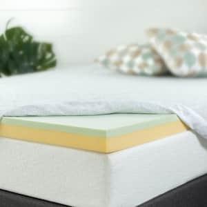 Zinus 3 in. Medium No Pocket Memory Foam Short Queen Mattress Topper