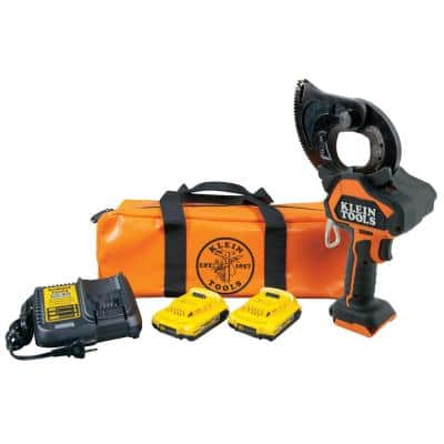 Battery-Operated EHS Closed-Jaw Cutter with Two 2 Ah Batteries Charger and Bag