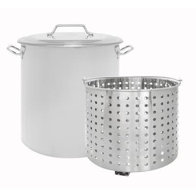 100 qt. Stainless Steel Stock Pot w/Steamer Basket