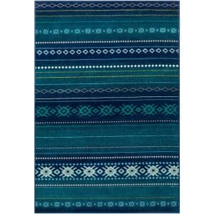 Artistic Weavers Mirta Blue 5 Ft 3 In X 7 Ft 9 In Native American Area Rug S00161027168 The Home Depot
