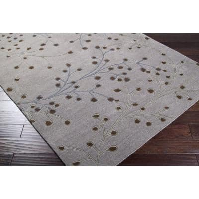 Bari Gray 2 ft. x 4 ft. Hearth Area Rug
