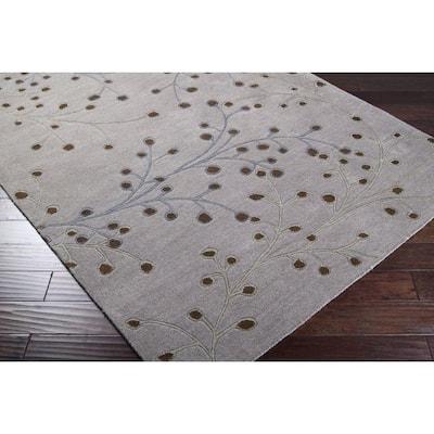 Bari Gray 2 ft. x 4 ft. Hearth Area Rug