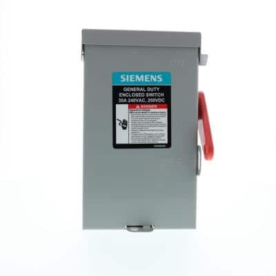 General Duty 30 Amp 2-Pole 3-Wire 240-Volt Fusible Indoor Safety Switch