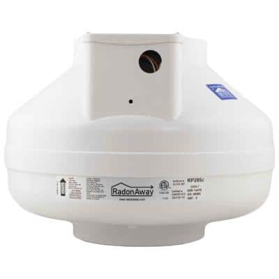 RP265C 6 in. Inlet and Outlet Inline Radon Fan in White with 2.3 in. Maximum Operating Pressure
