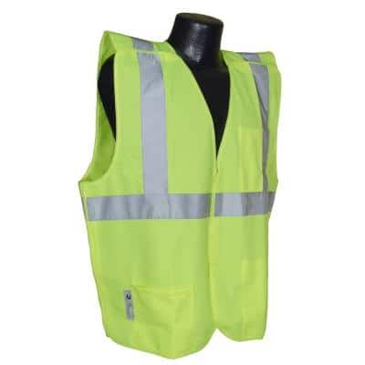 Cl 2 Green Ex Large Solid Breakaway Safety Vest