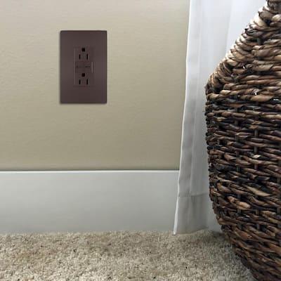 radiant 15 Amp 125-Volt Duplex Outlet with 6.0 Amp Type C/C USB, Dark Bronze