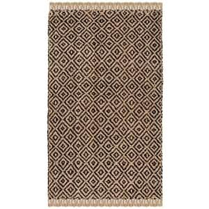 Natural Fiber Brown/Beige 6 ft. x 9 ft. Indoor Area Rug