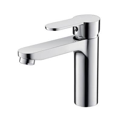 6.3 in. Single Hole Single-Handle Lever Vessel Bathroom Faucet in Chrome