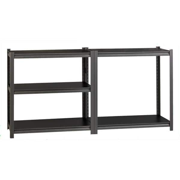 Iron Horse Gray 5 Tier Boltless Steel Garage Storage Shelving Unit 48 In W X 72 In H X 18 In D 20997 The Home Depot