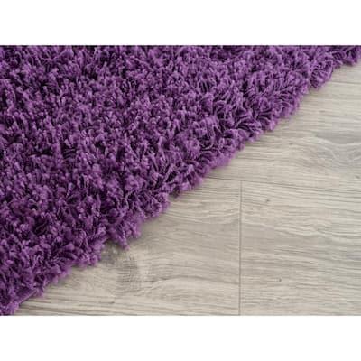 Lyra Purple 8 ft. x 10 ft. Shag Area Rug