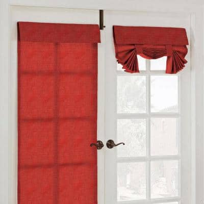 Chili Solid Back Tab Room Darkening Curtain - 26 in. W x 68 in. L