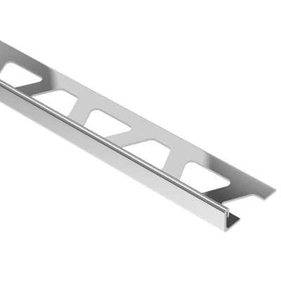 Schiene Stainless Steel 1 in. x 8 ft. 2-1/2 in. Metal L-Angle Tile Edging Trim