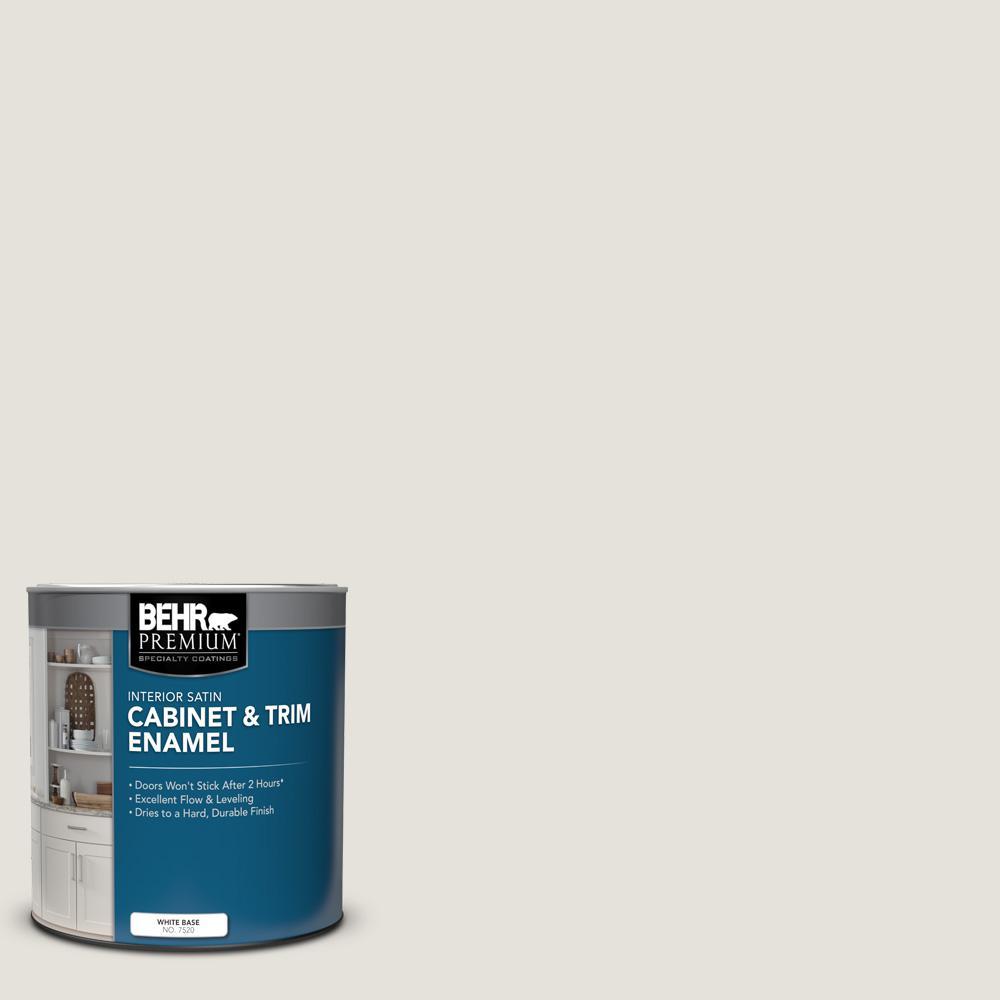 1 qt. #PPU18-08 Painters White Satin Enamel Interior Cabinet and Trim Paint