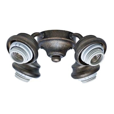 2.25 in. 4-Light Aged Bronze Ceiling Fan Arm Fitter