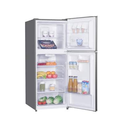 24 in. Wide 10 cu. ft. Top Freezer Refrigerator in Stainless Steel