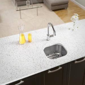 Stainless Steel 15 in. Undermount Bar Sink with Additional Accessories