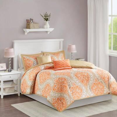 Sabrina Damask Comforter Set
