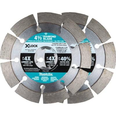 X-LOCK 4-1/2 in. Segmented Diamond Blade for Masonry Cutting (2-Pack)
