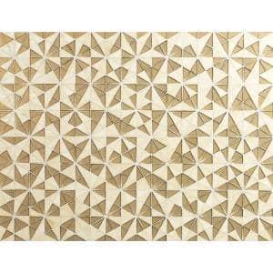 Stella Gold Hand Crafted 14.88 in. x 8.5 in. x 8mm Glass Mosaic wall Tile (8.80 sq. ft./Case)