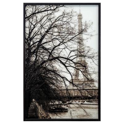 """""""Perspective In Paris"""" Black Frame Photography Wall Art 45 in. x 30 in."""