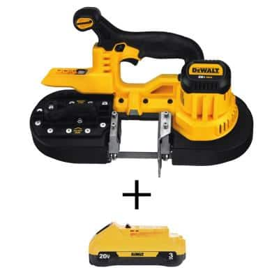 20-Volt MAX Lithium-Ion Cordless Band Saw (Tool-Only) with 20-Volt MAX Compact Lithium-Ion 3.0 Ah Battery Pack