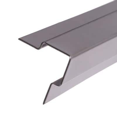 5 ft. Standard Stair Nosing in Stainless Steel for Tile (1/2 in. Profile)