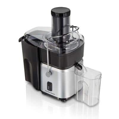 700-Watt 30 oz. Black and Stainless Steel Centrifugal Juice Extractor with Whole Fruit Feed Tube