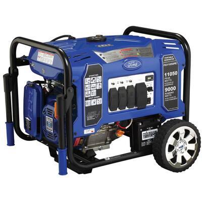 11,050/9,000-Watt Gasoline Powered Electric/Recoil Start Portable Generator with 457 cc Ducar Engine
