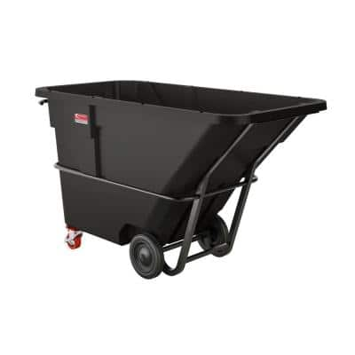 1300 lbs. Capacity 1-1/2 yds. Standard Duty Forkliftable/Towable Tilt Truck