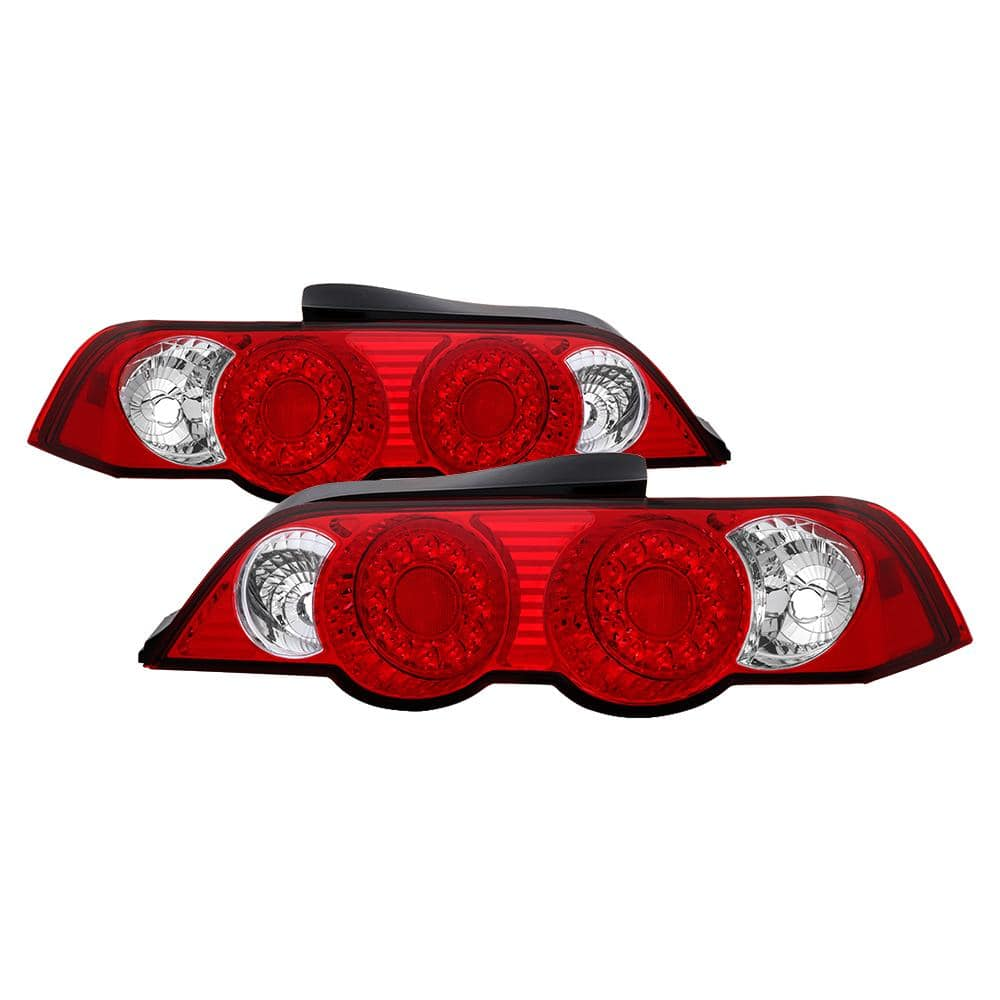 Spyder Auto Acura Rsx 02 04 Led Tail Lights Red Clear 5000385 The Home Depot