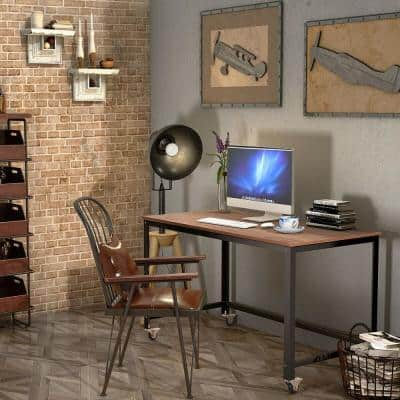 Product Width in Rectangle Black Metal 4 Drawer Computer Writing Desk