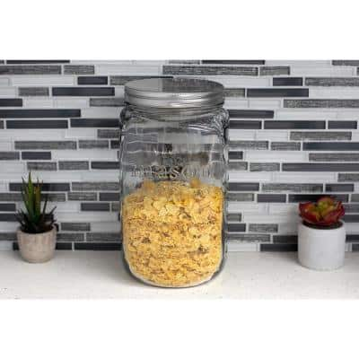 153.6 oz. X-Large Clear Glass Mason Canister Jar