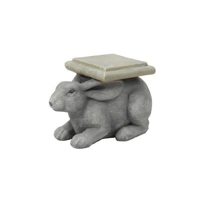 Gray MgO Rabbit Garden Stool