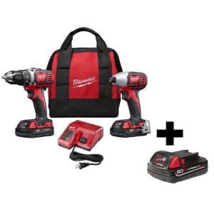 M18 18-Volt Lithium-Ion Cordless Drill Driver/Impact Driver Combo Kit (2-Tool) w/ 2.0Ah Battery