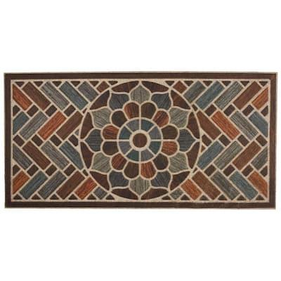 Ornamental Brick 24 in. x 48 in. Door Mat