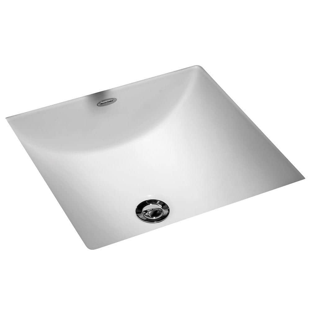 American Standard Studio Carre Square Undercounter Bathroom Sink With Less Faucet Deck In White 0426000 020 The Home Depot
