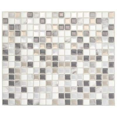 Minimo Noche Gray 11.55 in. x 9.64 in. Vinyl Peel and Stick Tile (2.80 sq. ft./ 4-pack)