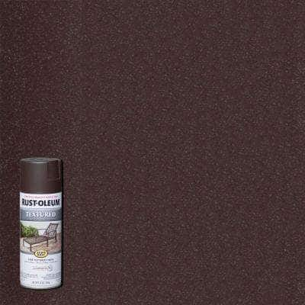 12 oz. Textured Dark Brown Protective Spray Paint (6-Pack)