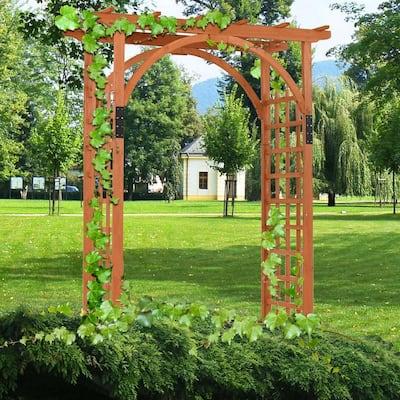 85 in. H x 24 in. W Wooden Premium Outdoor Cedar Arbor