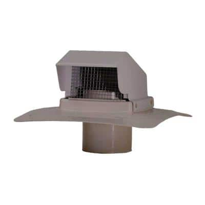 4 in. Weathered Gray Plastic Roof Cap Vent