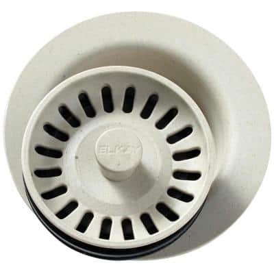Polymer Disposer Fitting for 3-1/2 in. Sink Drain Opening in Bisque