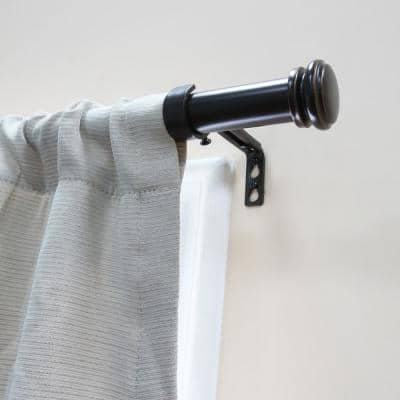 Mix and Match 72 in. - 144 in. Single Curtain Rod in Oil Rubbed Bronze