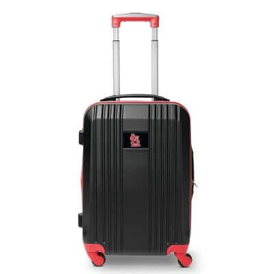 MLB St Louis Cardinals 21 in. Hardcase 2-Tone Luggage Carry-On Spinner Suitcase
