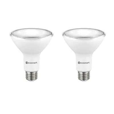 75-Watt Equivalent PAR30 Dimmable Energy Star Flood LED Light Bulb Bright White (2-Pack)