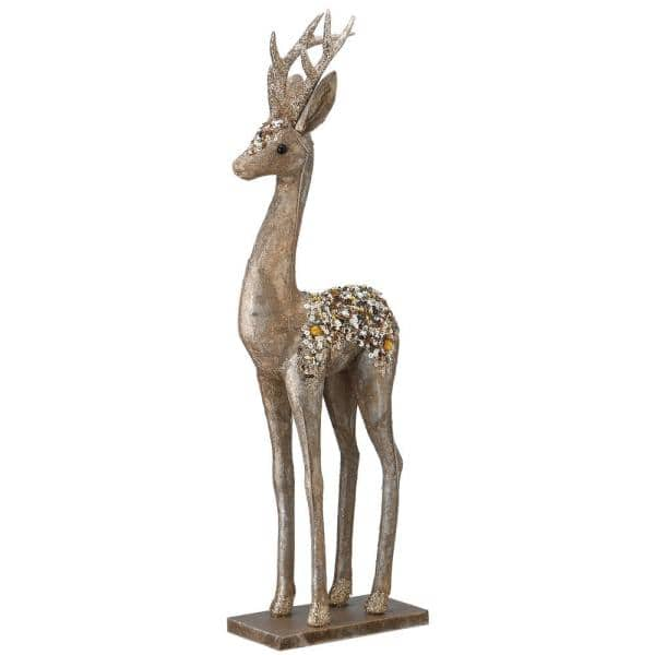 National Tree Company 20 In Standing Deer Rac Jy0218s 1 The Home Depot